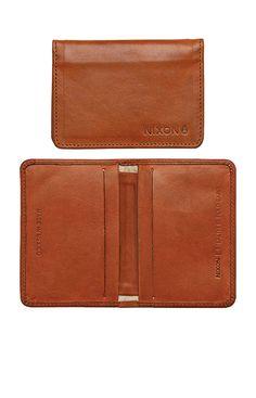 Stealth Slim Bi-Fold Card Wallet - Saddle   Nixon