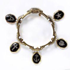 French mourning bracelet, V&A; Museum, 1860
