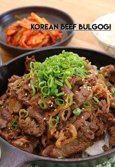 Beef Bulgogi Recipe & Video - Seonkyoung Longest - My list of the most healthy food recipes Korean Bulgogi, Korean Beef, Korean Food, Chinese Food, Asian Beef, Beef Bulgogi Recipe, Bulgogi Marinade, Kimchi, Seonkyoung Longest