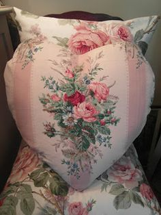 Nostalgia at The Stone House - beautiful heart pillow