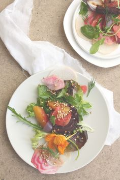 recipe | cleansing beet & citrus salad with pickled daikon by bodymind chef kyra. https://www.thehouseofyoga.com/pickled-daikon-beet-salad/ #detox #cleaneating #vegan #salad #recipe #yoga