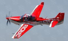 6 CH BlitzRCWorks Red Giant Grob G 120TP 1700mm RC Trainer Airplane - Radio Controlled Giant Grob G 120TP 1700mm Beginner Plane - RC Airplane Trainer