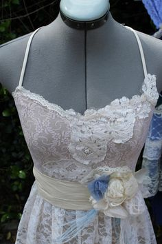 Wedding Dress- The Audrey Style- Long Eco Lace Long Dress. $445.00, via Etsy.