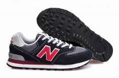 Joes New Balance ML574VDN Retro Running Sneakers Black Red Grey Mens Shoes