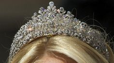 The Princess Alexia diamond tiara, worn by her younger sister, Princess Theodora at the wedding of Princess Madeleine of Sweden.