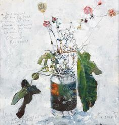 A few leaves off the fig tree and some of the flowers growing beneath. 2015 in mixed media on museum board by Kurt Jackson Kurt Jackson, Powerful Art, Fig Tree, Growing Flowers, Natural Forms, Botanical Art, Still Life, Sketches, Concept