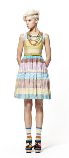 A little reminiscent of Rainbow Bright, but I LOVE this dress!