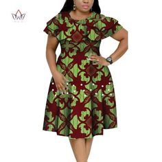 New Bazin Riche African Ruffles Collar Dresses for Women Dashiki Print Pearls Dresses Vestidos Women African Clothing - AliExpress African Dresses Plus Size, African Party Dresses, African Dresses For Kids, Latest African Fashion Dresses, African Print Dresses, African Print Fashion, African Fashion Traditional, Ankara Dress Styles, African Attire