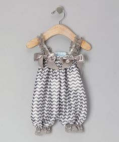Take a look at this Gray Zigzag Bubble Romper - Infant, Toddler & Girls on zulily today!