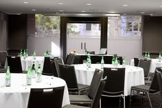 Conference facilities at Quay West Suites Sydney. The Rocks Sydney, Quay West, Conference Facilities, Interior Design Inspiration, Brisbane, Table Settings, Hotels, Events, Table Decorations
