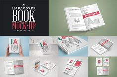 Book Mock-Up / Hardcover Edition by PuneDesign on @creativemarket