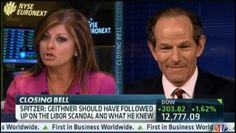 """Maria Bartiromo suggests that Eliot Spitzer had a personal vendetta, with no basis in reality, that led to fraud accusation against Hank Greenberg when he was running AIG. Mario grills Spitzer as they exchange some heated words. """"Spitzer: Maria, I hate to say this to you. Deal with facts and reality not what Hank Greenberg's PR team wants you to believe."""""""