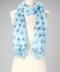 Take a look at this Blue Evil Eye Scarf by Raj Imports on #zulily today! $18.99