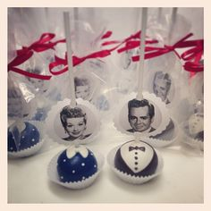 I Love Lucy theme party favors! By www.cupcakeaffections.com
