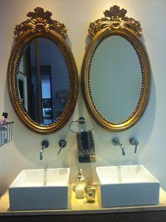 Bathroom ideas mirrors classy gold