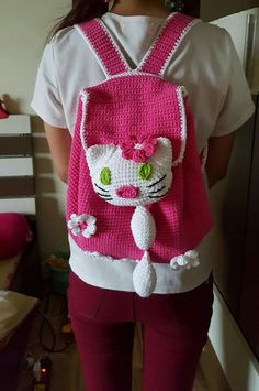 Back Bag, Apron, Crochet, Bags, Fashion, Handbags, Moda, Fashion Styles, Pinafore Apron