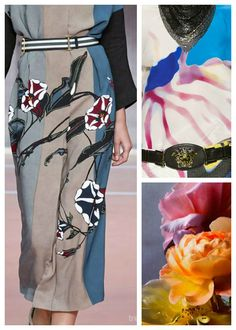 SS 2016 Women's Key Prints, big garden blooms, detail 2