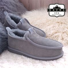 Men's Luxury Handmade 100% Genuine Hard EVA Sole Sheepskin Suede Fur Slippers in Clothes, Shoes & Accessories, Men's Shoes, Slippers   eBay