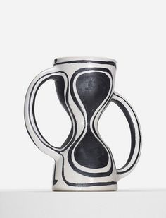 Georges Jouve; Glazed Stoneware 'Sablier' Vase, 1952.