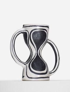 // Georges Jouve; Glazed Stoneware 'Sablier' Vase, 1952.