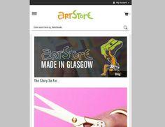 Art Store responsive website design.  #responsive #RWD #webdesign  https://www.artstore.co.uk/