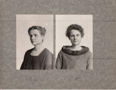 Avant et après le maquillage en 1928