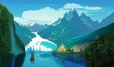 Концепты арты мультфильма Холодное Сердце (Frozen) с выставки Дисней D23