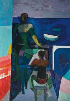 Alberto Morrocco, R.S.A., R.S.W. (1917-1998) Bathers, Fondachello