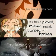 """I'm proud of my heart."""