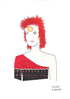 Ziggy Stardust drawing by Telones & Ballenas