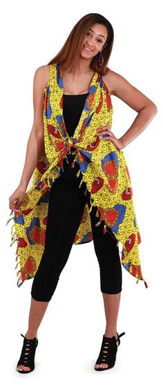6dca5644bb721 Traditional African Print Sarong in yellow and red- Beautiful and bold  African traditional African prints