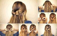 + Dziewczęca propozycja na dłuższe włosy.