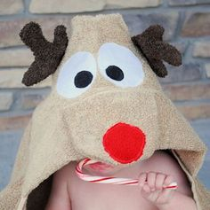 How to make a Reindeer Hooded Towel