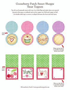 Gooseberry Patch Sweet Shoppe Treat Toppers