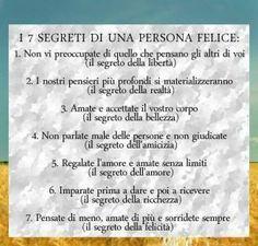 Le semplici regole della vita per essere felici! Condividile anche tu! #frasi #felicita #ricchezza #amore #bellezza #liberta #realta #esserefelici