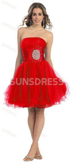 Skinny Short Red Prom Dresses