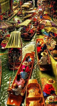 Floating market, Thailand  - Best Value Travel and Accommodation