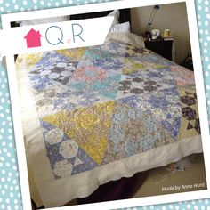 Up against a deadline Anne had this wonderful quilt long arm quilted. This was for her brothers 40th wedding anniversary. Absolutely lovely!