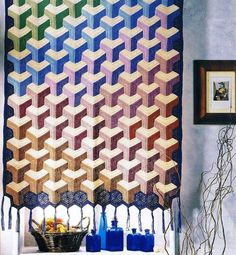 Vasarely curtain, found on : http://www.liveinternet.ru/users/creating_happiness/post278039079/