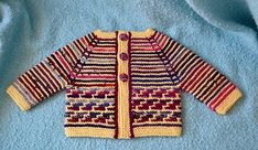 Ravelry: Retro Steps Baby Cardigan pattern by Fiona Oliver