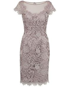 Sheath Bateau Cap Sleeves Short Champagne Lace Mother of the Bride Dress - Party Evening Dresses Mob Dresses, Homecoming Dresses, Short Dresses, Fashion Dresses, Formal Dresses, Bride Dresses, Prom Dress, Bodycon Fashion, Dresses Online