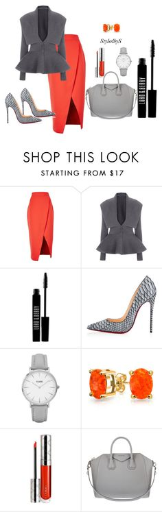 """""""StyledbyS"""" by sforstylebys on Polyvore featuring C/MEO COLLECTIVE, Lord & Berry, Christian Louboutin, Topshop, Bling Jewelry, By Terry, Givenchy, StreetStyle, DateNight and officechic"""