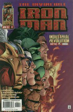 Iron Man V2 #6 marvel comics cover by Whilce Portacio & JD