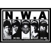 Found it at Wayfair - 'N.W.A. Lineup - Ice Cube - MC Ren - Eazy E - Yella - Dr Dre' Framed Photographic Print #buyartforless