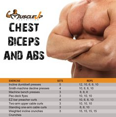 Chest, Biceps & Abs Day @ The Gym https://www.facebook.com/photo.php?fbid=601340799909712