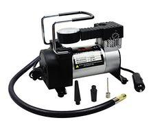 Airzone MX-218 110V AC/12V DC Portable Air Compressor, Tire Inflator, Beach Ball Inflator, Sports Ball Inflator, Air Mattress Inflator