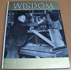 Vintage 1960 Wisdom Magazine- THOMAS EDISON Hard Cover #Wisdom