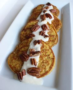Pumpkin pancakes make breakfast a real treat! This healthy recipe is perfect for the upcoming festive Fall season.