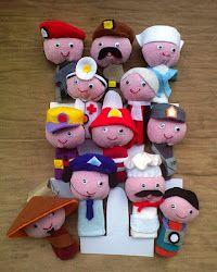 Boneka Jari Profesi yang imut dan lucu (finger puppet)