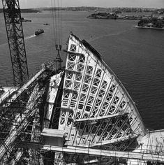 Photographic prints (179), book, and documents (4), construction of the Sydney Opera House, photographs by Max Dupain for Peter Hall, Sydney, New South Wales, Australia, 1958-1973